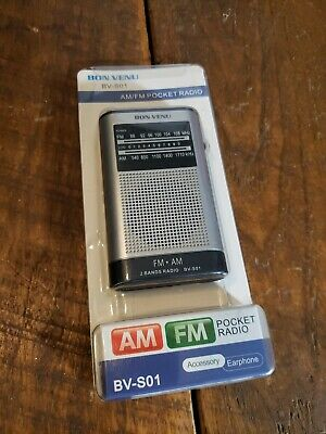 Bon Venu BB-S01 AM/FM Pocket Radio New In Package