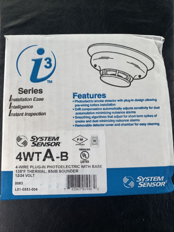 System Sensor 4WTA-B 4WTAB i3 Series 4-wire Photoelectric Smoke Detector