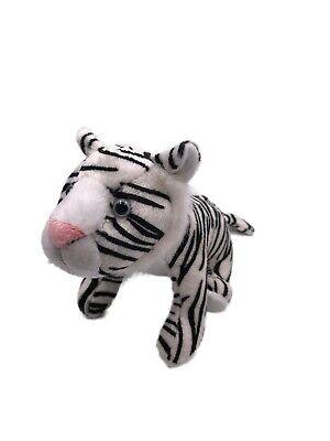 Peluche Animal de Peluche Tela Animal Tigre Blanco Sentado Gato Grande 23CM