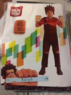 Disney Wreck it Ralph Breaks The Internet Halloween Costume Child Med 8-10 4 Pc](Wreck It Ralph Halloween Costumes)