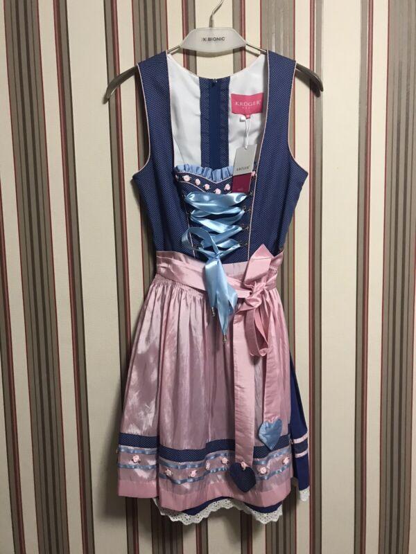 Kruger Madl Dirndl German Austrian Oktoberfest Dress Sz 38 $200 New