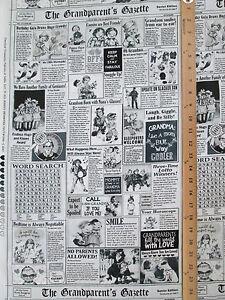 Grandparents Newsprint Scribe Newspaper Cotton Fabric FQ