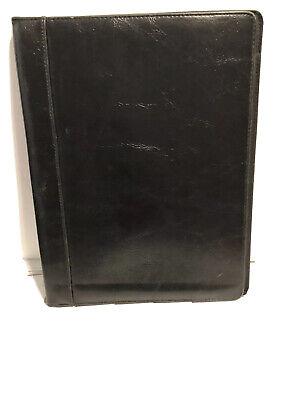 Buxton Executive Leather Portfolio Folder Organizer - Black