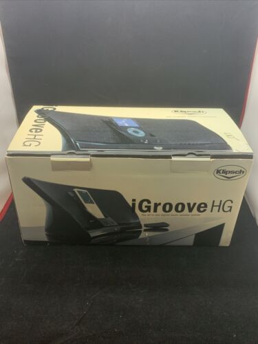 KLIPSCH IGROOVE HG IPOD MP3 PORTABLE SPEAKER SYSTEM DOCK ONLY NO AC ADAPTER USED - $31.19
