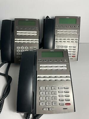 Lot Of 3 Nec 1090020 Dsx 22b Display Tel Bk Phone Free Shipping