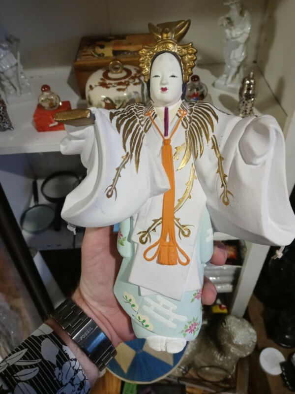 Hakata Doll Authentic Japanese Antique Numbered and Signed by Artist.
