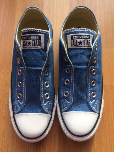 Details about NEW ***REAL*** CONVERSE DENIM SLIP ON PUMPS TRAINERS SIZE UK 4