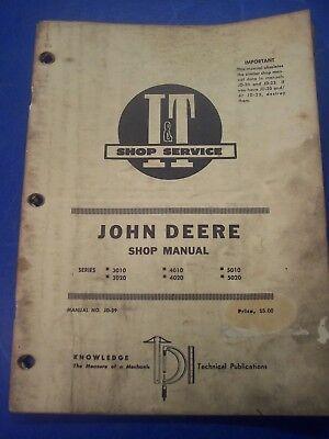 John Deere I T Shop Manual Series 3010 4010 5010 3020 4020 5020 Manual Jd-29