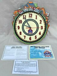 Vintage Lionel Trains 100th Anniversary Motion Wall Clock In Original Box