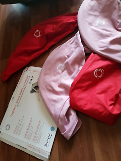 Bugaboo Doneky Red/soft pink hoods and aprons