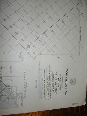 1966 NAUTICAL WAR CHART,IIe de la Table,CONFIDENTIAL