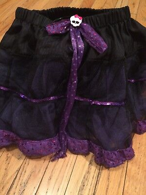 Monster High Girls One Size Fits All Tutu Black/Purple (All Monster High Costumes)