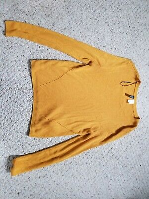 H&M Divided Mustard Yellow Long Sleeve large ribbed sweater