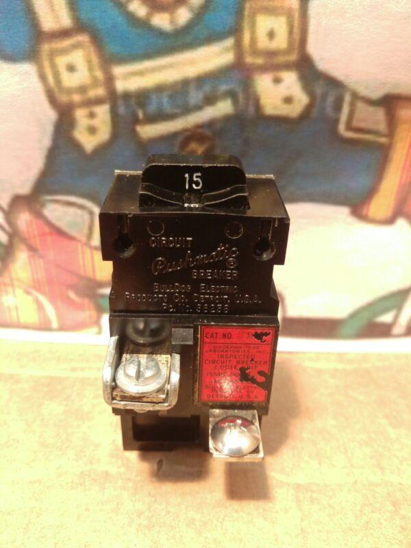 PUSHMATIC ITE 15 AMP CIRCUIT BREAKER P115 SINGLE POLE 1POLE 120 VOLT