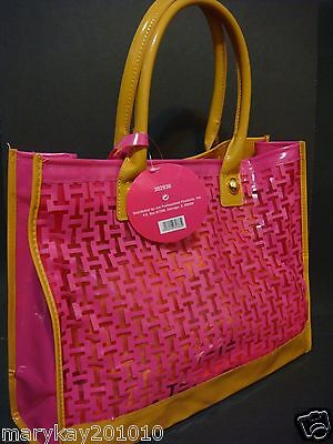 NEW THE HAMPTON TOTE ION PINK BROWN TAN BEIGE PURSE TRAVEL DUFFLE GYM BAG