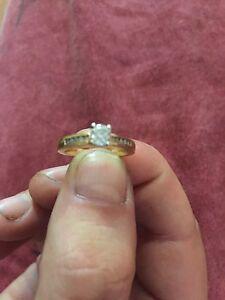 Gold Diamond Ring / Engagement Kwinana Beach Kwinana Area Preview