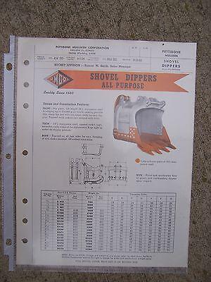 1954 Pettibone Mulliken All Purpose Shovel Dipper Promo Brochure Crane Pmco R