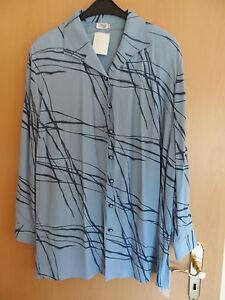 Neue Bluse von Creation Atelier GS - Blautöne - Größe 50