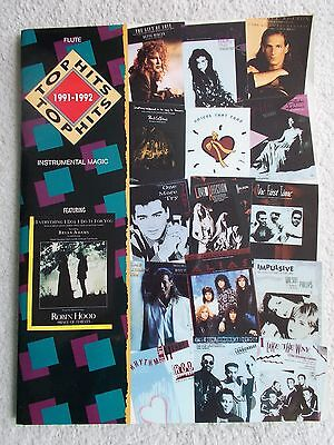 Top Hits 1991-1992 Flute Solo 16 Popular Songs Unmarked