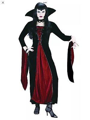 Morris Costumes Women's Classic Halloween Vampire Velour M/L . FW5100ML