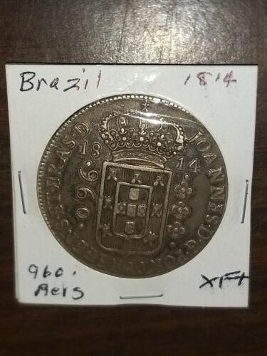 Coin - South America - 1814 - XF - Brazil - Reis - Silver