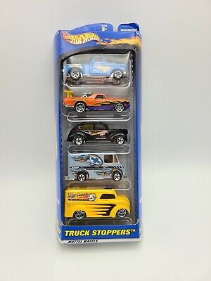 Hot Wheels 5 Car Gift Pack Truck Stoppers FREE SHIPPING
