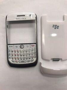For Blackberry Curve 8900 Fascia Housing Battery Cover Keypad White