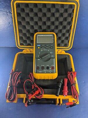 Fluke 87 Trms Multimeter Excellent Screen Protector Hard Case Accessories
