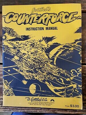 Gottlieb's Counterforce Pinball Machine Instruction Manual