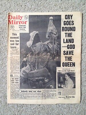 Daily Mirror newspaper 9th February 1952. COMPLETE