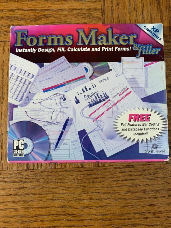 Forms Maker And Filler Computer Software