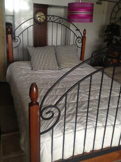 Beautiful Solid Wrought Iron Queen Bed