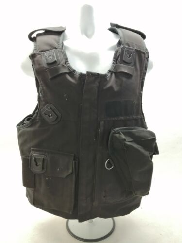 Ex Police Body Armour Aegis Black Overt Dual Purpose Vest Security Obsolete SIA