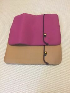 Two Soft Shell Computer Laptop Cases