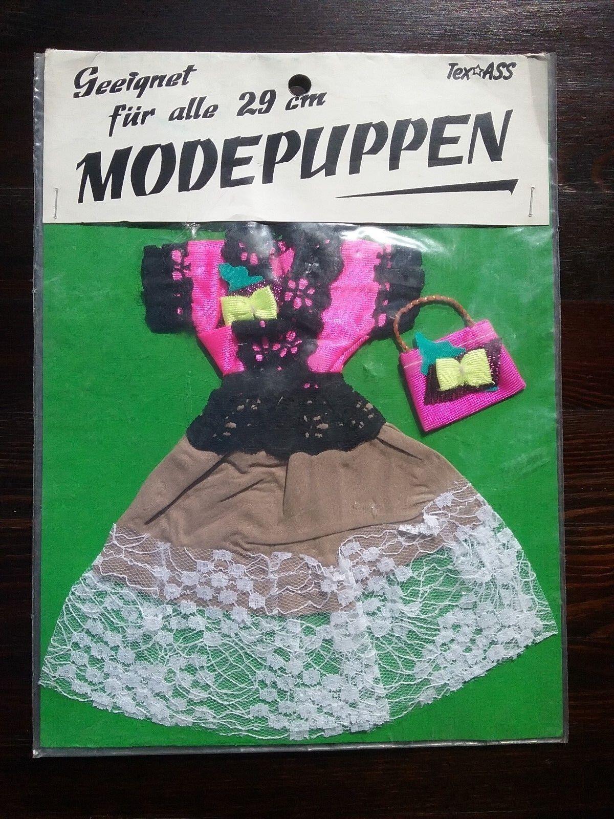 Kleid für modepuppen ovp 60er jahre von tex ass