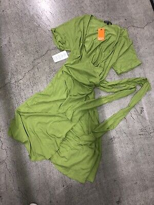 NWT Isabella Oliver Green Wrap Pregnancy Maternity Jersey Stretch Dress 5 -