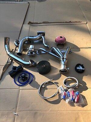 Chevy Small Block Turbo Kit T4 Single CAMARO PONTIAC NOVA 350 WITH Crossover