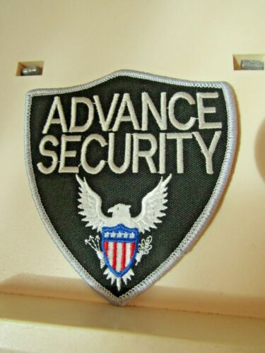 """Vintage Advance Security patch AZ Arizona? embroidered iron on 4"""" wide"""