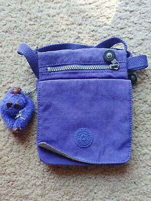 Kipling El Dorado Nylon Crossbody Mini Travel Bag purple Flap