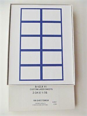 Custom Die Cut Labels for Laser & Ink-Jet Printers (Qty.1000)