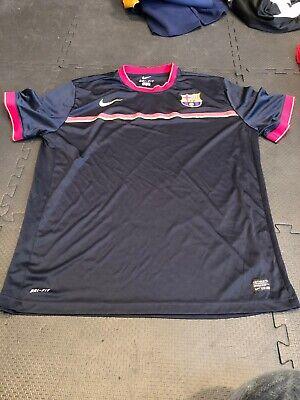 Men's Rare Football Club Barcelona Training Jersey Blue Nike -Size XXL Barcelona Training Jersey