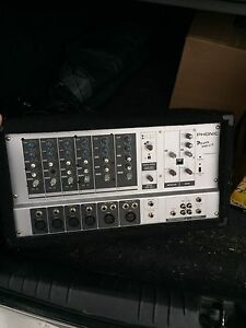 6 CHANNEL POWERED PA MIXER