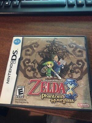 Legend of Zelda Phantom Hourglass Nintendo DS Authentic Replacement Case Manual