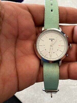 Fossil Q Neely Women's Stainless Steel White Dial Hybrid Smart Watch