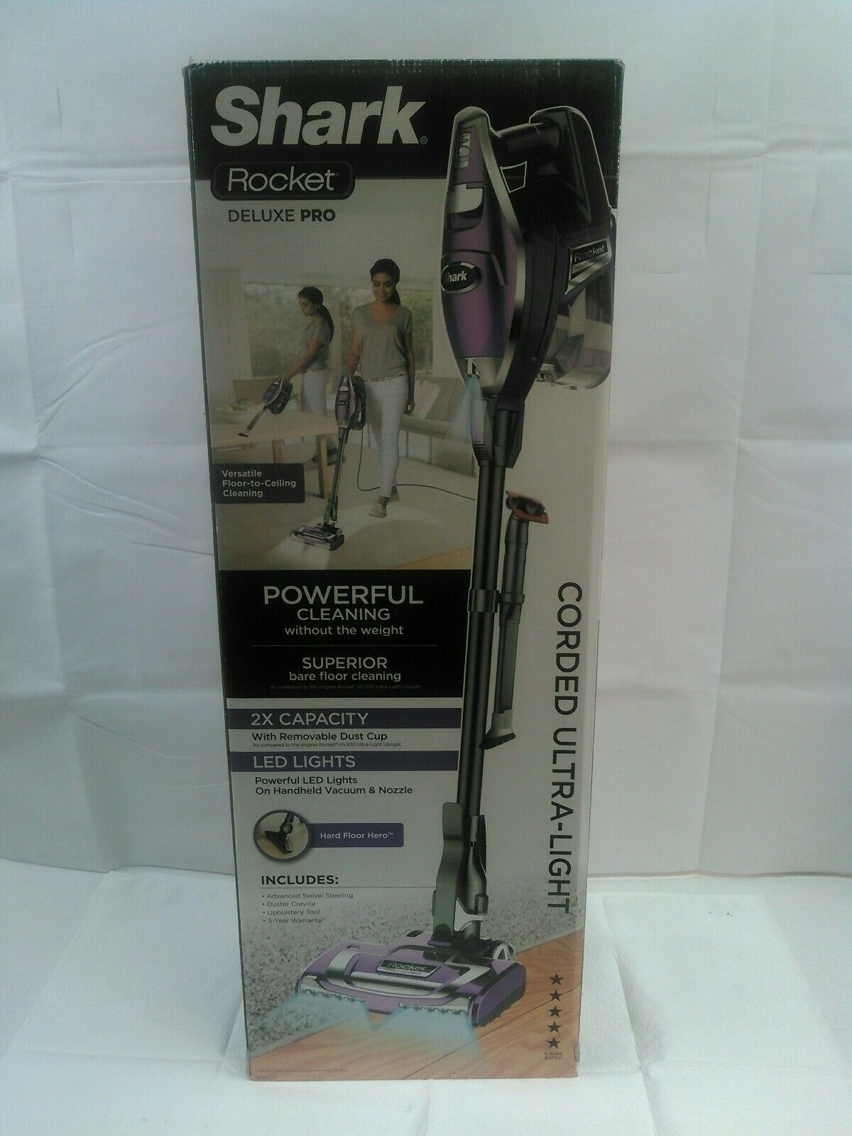 Shark - Rocket Deluxepro Bagless Vacuum - Lavender