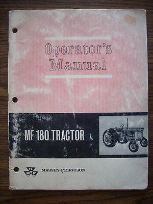 Massey Ferguson Mf 180 Owners Manual