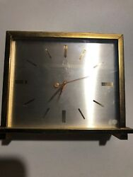 Bulova Accutron Table Clock Solid Bronze Quartz