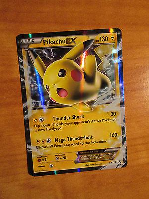 LP Pokemon PIKACHU EX Card BLACK STAR PROMO Set XY174 Ultra Rare Battle Tin TCG ()