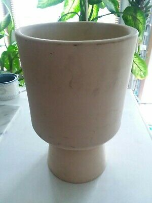 Vintage Architectural GAINEY POTTERY Model T-6 Ceramic PLANTER Mid Century Modern Rare Yellow