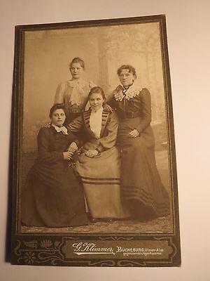 Bückeburg - 1898 - Familie Nagel ? - 4 junge Frauen - Kulisse / KAB